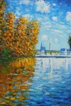 Autumn at Argenteuil 1873 Oil Painting by Claude Monet: Art Monday